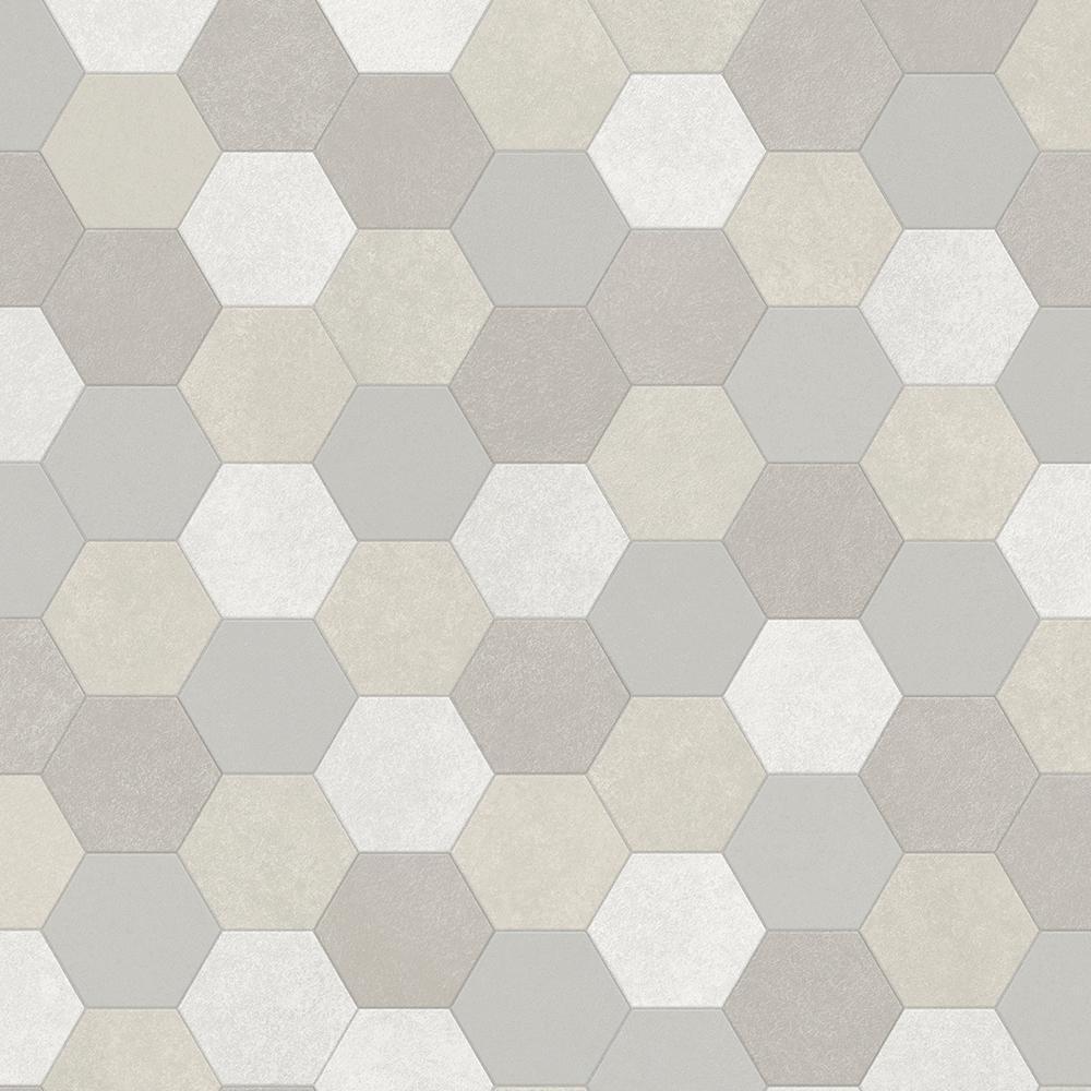 Take Home Sample Seashell Stone Grey Vinyl Sheet - 6 in. x 9 in.
