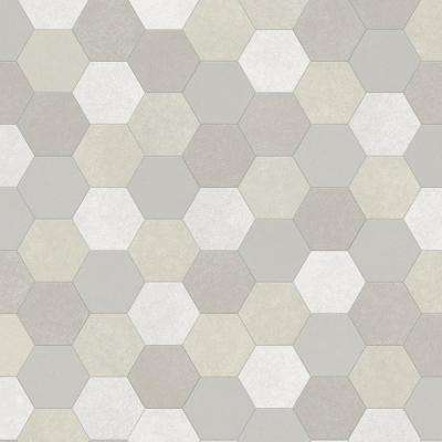 Take Home Sample - Seashell Stone Grey Vinyl Sheet - 6 in. x 9 in.