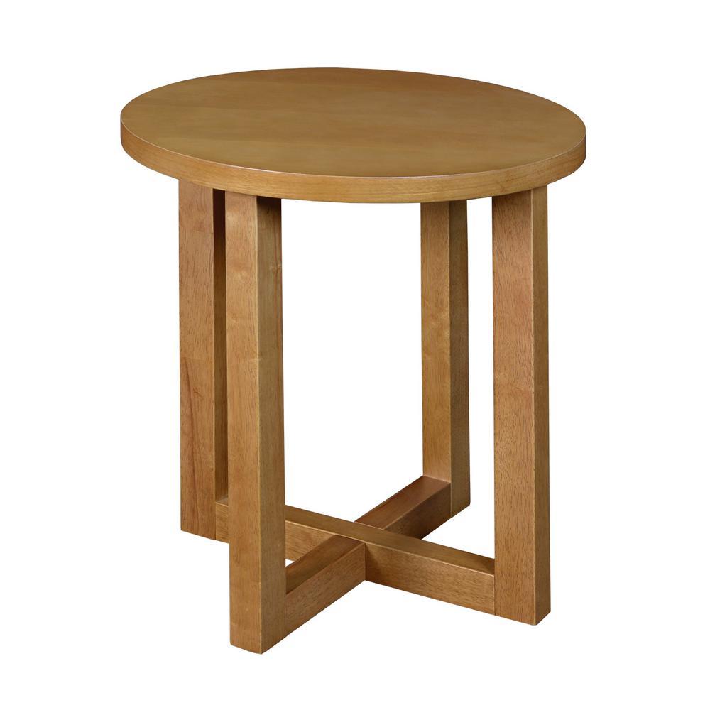 Regency Seating Chloe Medium Oak 21 inch Round End Table by Regency Seating