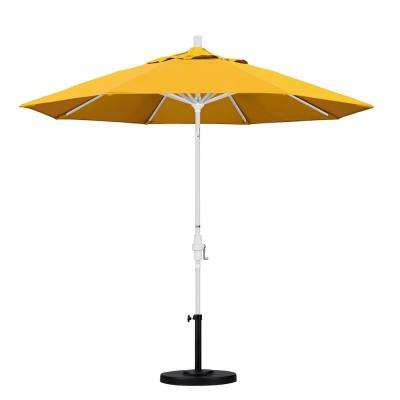 9 ft. Aluminum Collar Tilt Patio Umbrella in Yellow Pacifica