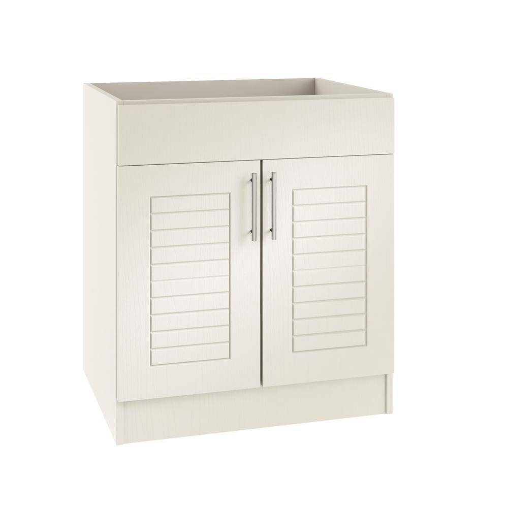 Open Kitchen Sink Cabinet: WeatherStrong Assembled 30x34.5x24 In. Key West Open Back