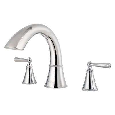 Saxton 2-Handle High-Arc Deck Mount Roman Tub Faucet Trim Kit in Polished Chrome (Valve Not Included)