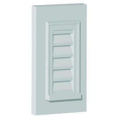 25 in. x 37 in. x 2 in. Polyurethane Decorative Rectangle Vertical Louver with Flat Trim