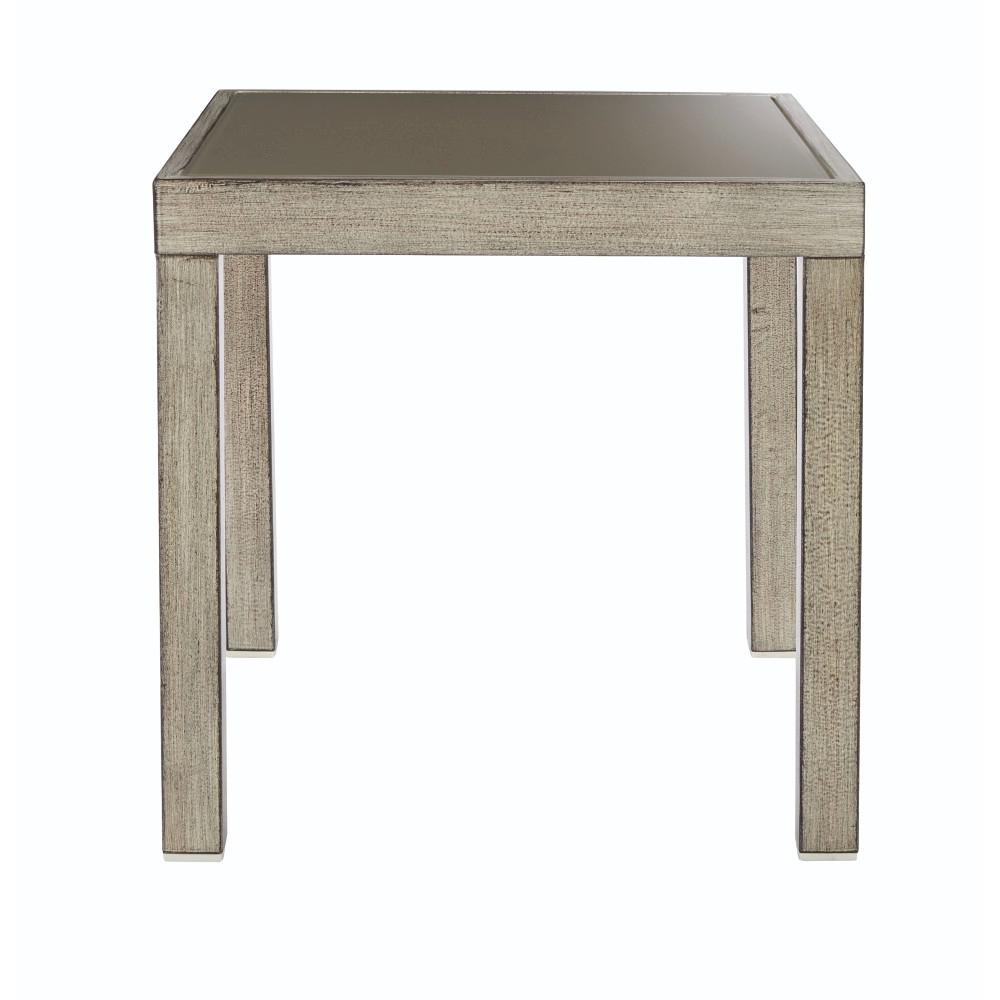 Home Decorators Collection Alessandria Distressed Metal White Outdoor End  Table 9870800410   The Home Depot