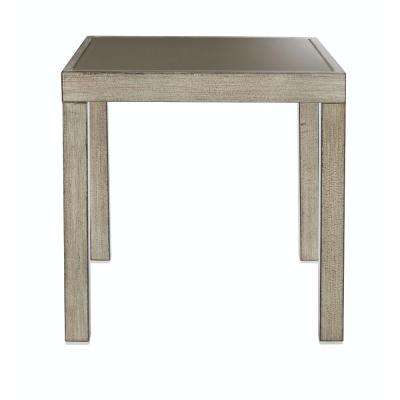 Alessandria Distressed Metal White Outdoor End Table. Home Decorators Collection   Metal Patio Furniture   Patio