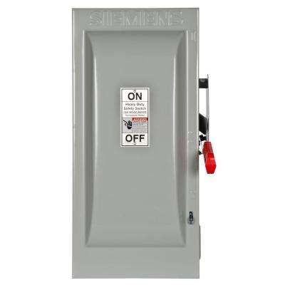 Heavy Duty 100 Amp 600-Volt 3-Pole Indoor Fusible Safety Switch