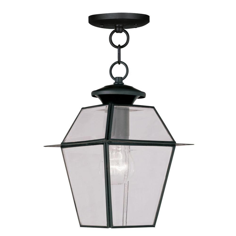 Providence 1-Light Black Outdoor Hanging Lantern
