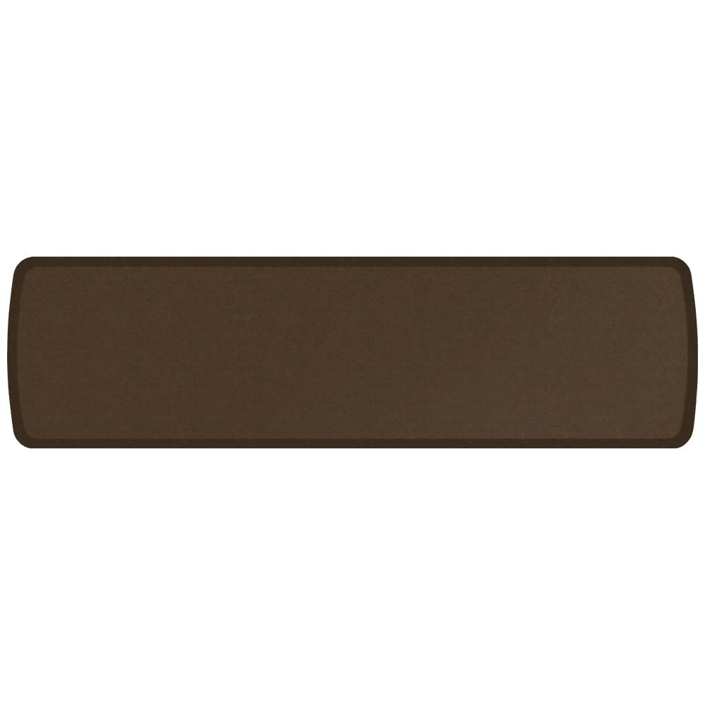 GelPro Elite Vintage Leather Rustic Brown 20 in. x 72 in. Comfort Kitchen  Mat