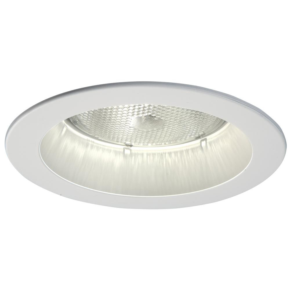 Halo 5000 Series 5 in. White Recessed Ceiling Light Trim with Open ...