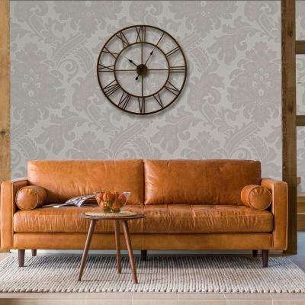 24 in. Bronze Distressed Finish Roman Round Wall Clock
