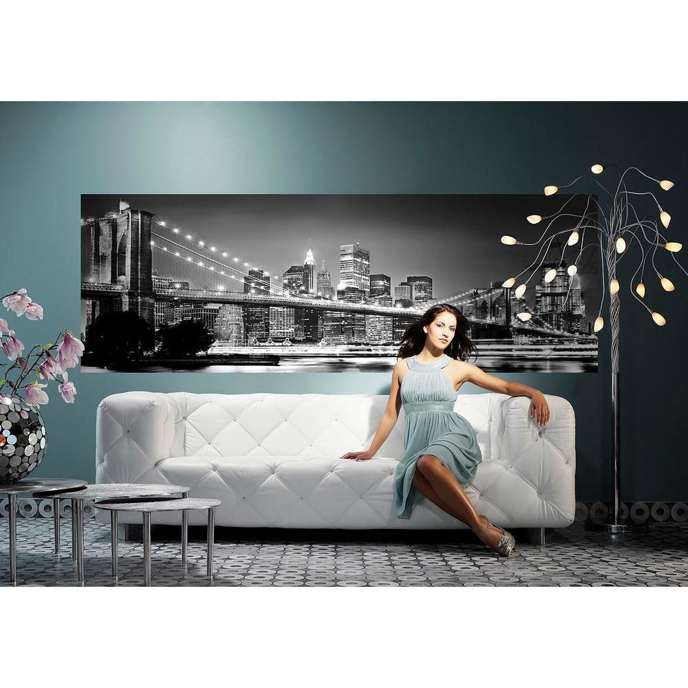 50 in. x 145 in. Brooklyn Bridge Wall Mural