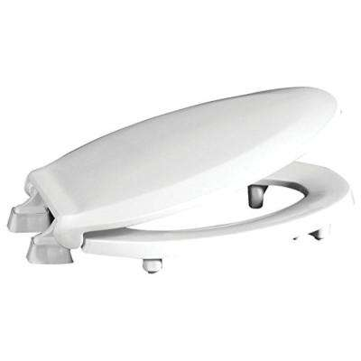 """Centoco HL800STS ADA Compliant 2"""" Raised Elongated Closed Front with Cover Toilet Seat in White"""