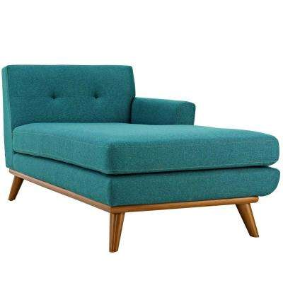 Engage Teal Right-Facing Chaise