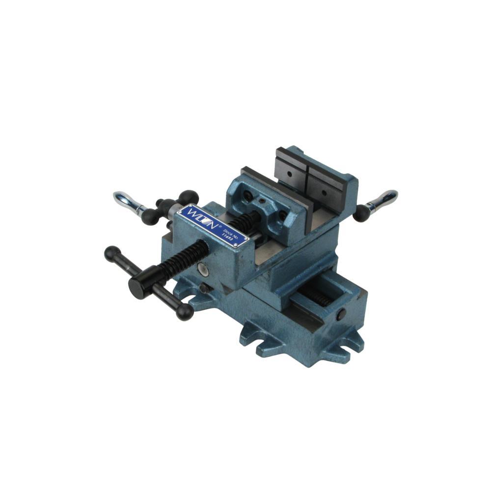8 in. Cross Slide Drill Press Vise