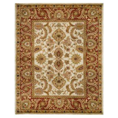 Classic Ivory/Red 8 ft. x 11 ft. Area Rug