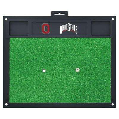 NCAA Ohio State University 17 in. x 20 in. Golf Hitting Mat