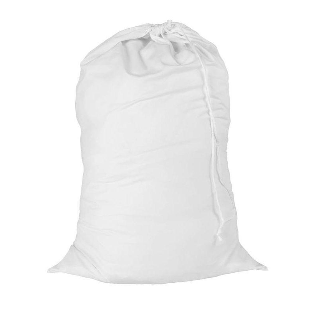 24 in. x 36 in. White Cotton Laundry Bag