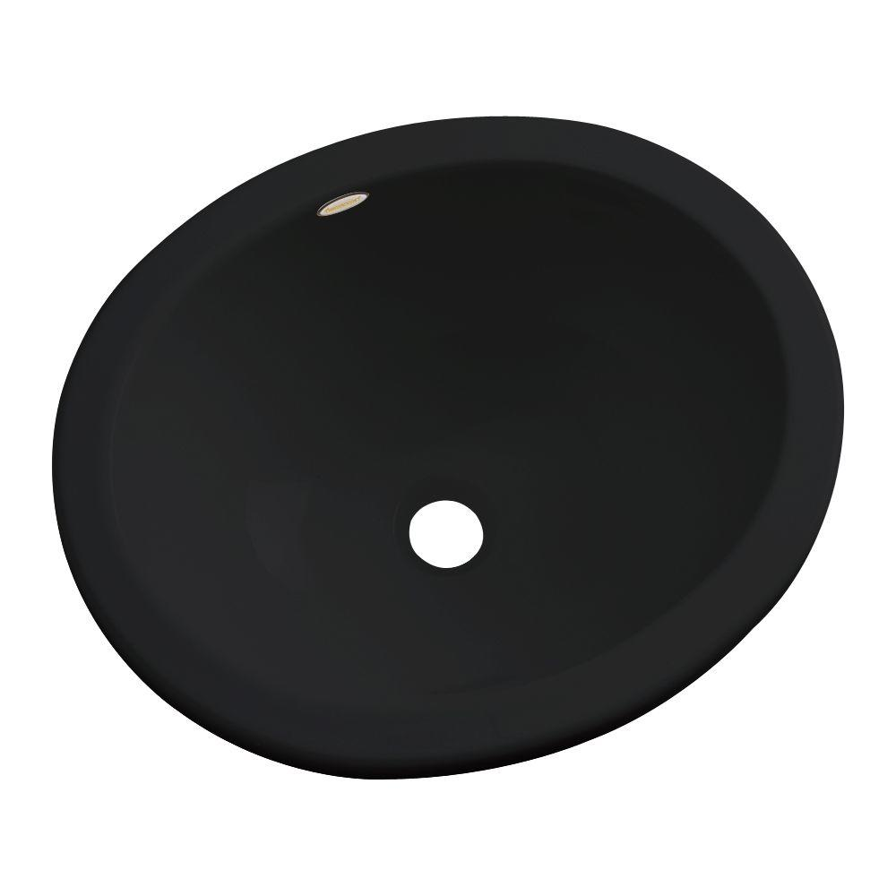 Thermocast Caladesi Undermount Bathroom Sink in Black