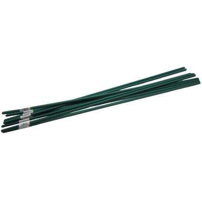 4 ft. Steel Coated Plant Stake Support (10-Pack)
