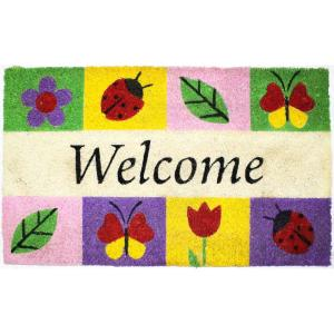 Click here to buy  18 inch x 30 inch Welcome Icons Vinyl Back Coco Door Mat.