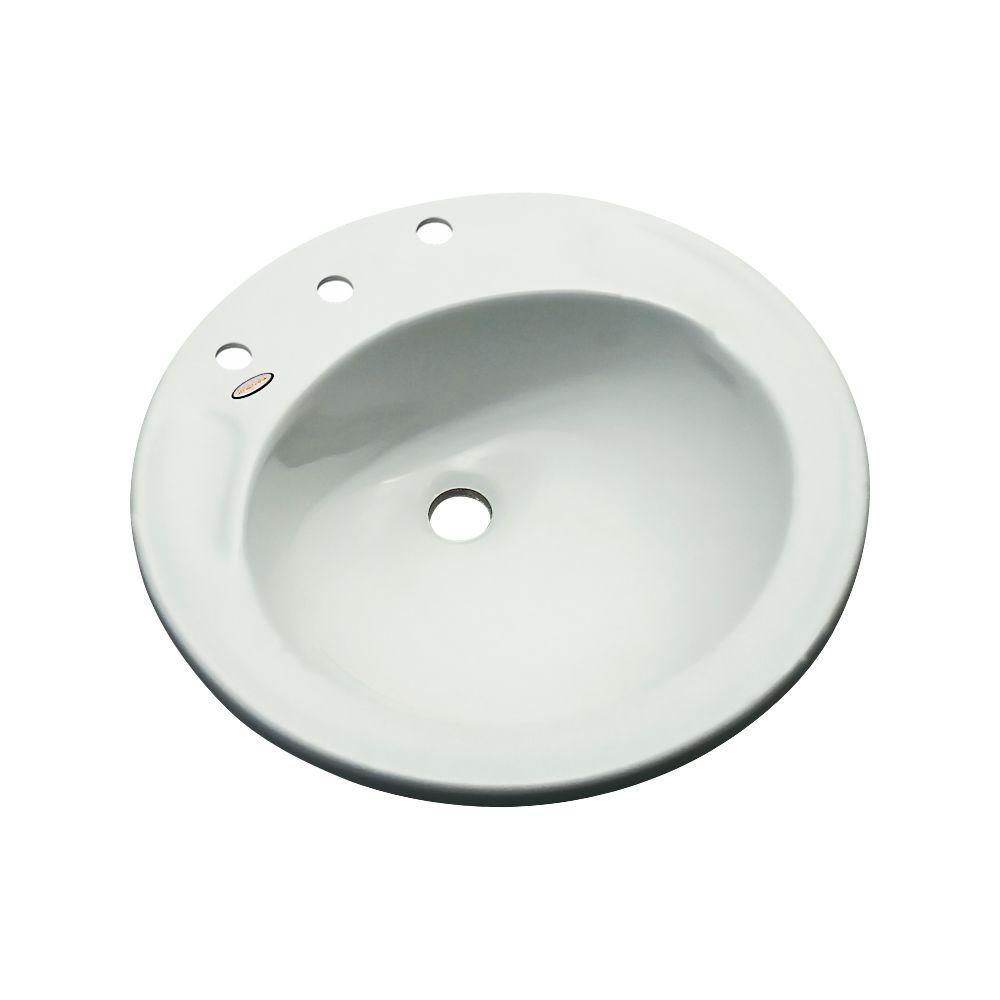 Province Drop-In Bathroom Sink in Ice Gray