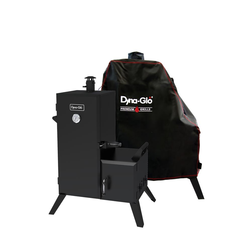 Dyna-Glo 36 in. Vertical Off-Set Charcoal Smoker with Cover