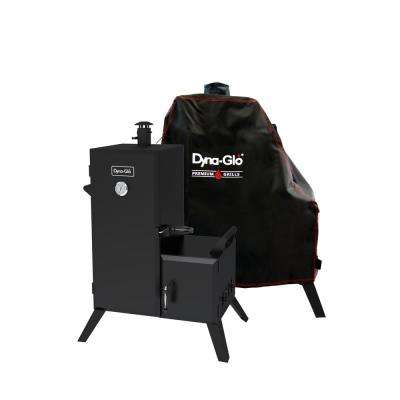 36 in. Vertical Off-Set Charcoal Smoker with Cover
