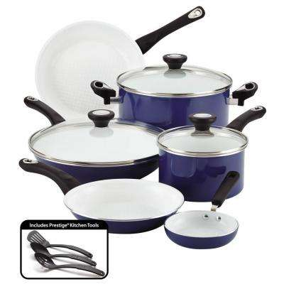 purECOok 12-Piece Blue Cookware Set with Lids