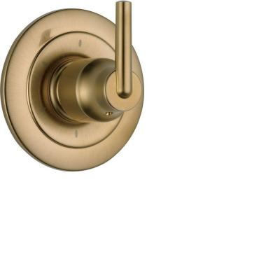 Trinsic 1-Handle Wall-Mount 6-Function Diverter Valve Trim Kit in Champagne Bronze