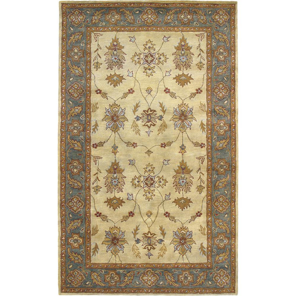 Charisma Ivory/Blue 5 ft. x 8 ft. Indoor Area Rug