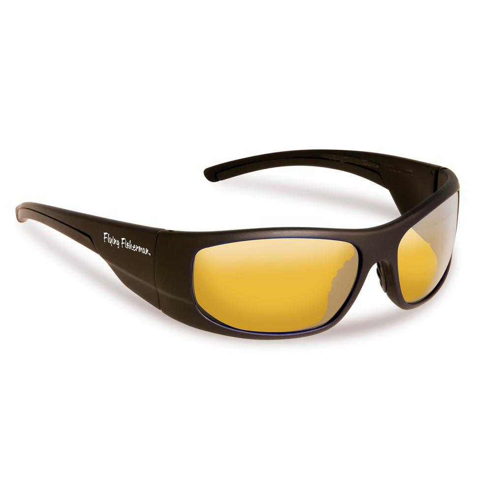 Cape Horn Polarized Sunglasses in Black Frame with Yellow Amber Lens