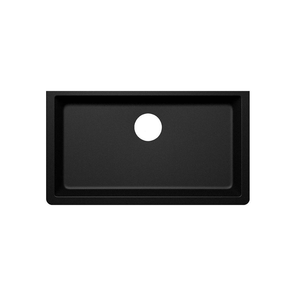Elkay by Schock Undermount Quartz Composite 33 in. Single Bowl Kitchen