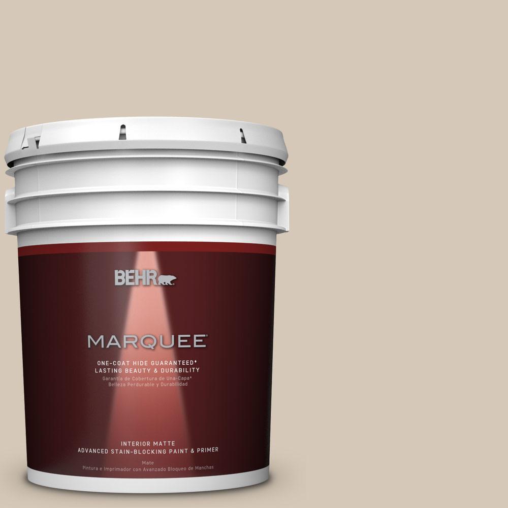 5 gal. #MQ3-10 French Beige One-Coat Hide Matte Interior Paint