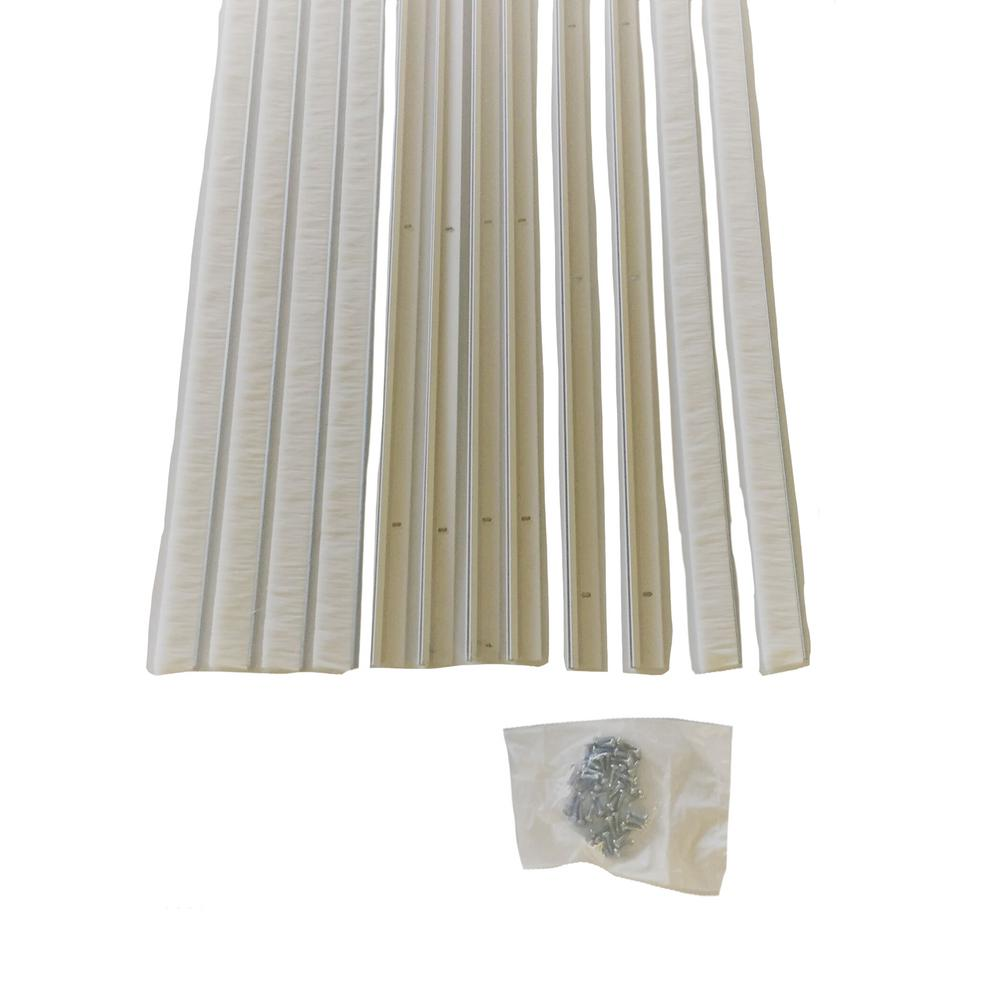 Garage Door Brush Weather Seal With Aluminum Retainers With 1 In. Brush  With Light Color Doors