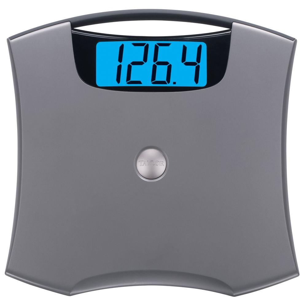 taylor 440 lbs digital bath scale 740541032 the home depot rh homedepot com taylor bathroom scale instructions taylor bathroom scale accuracy