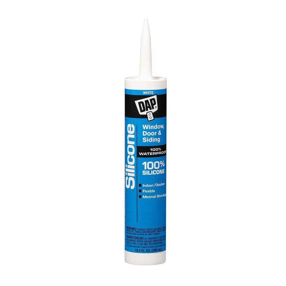 DAP Silicone 10.1 oz. White Window, Door and Siding Sealant (12-Pack)