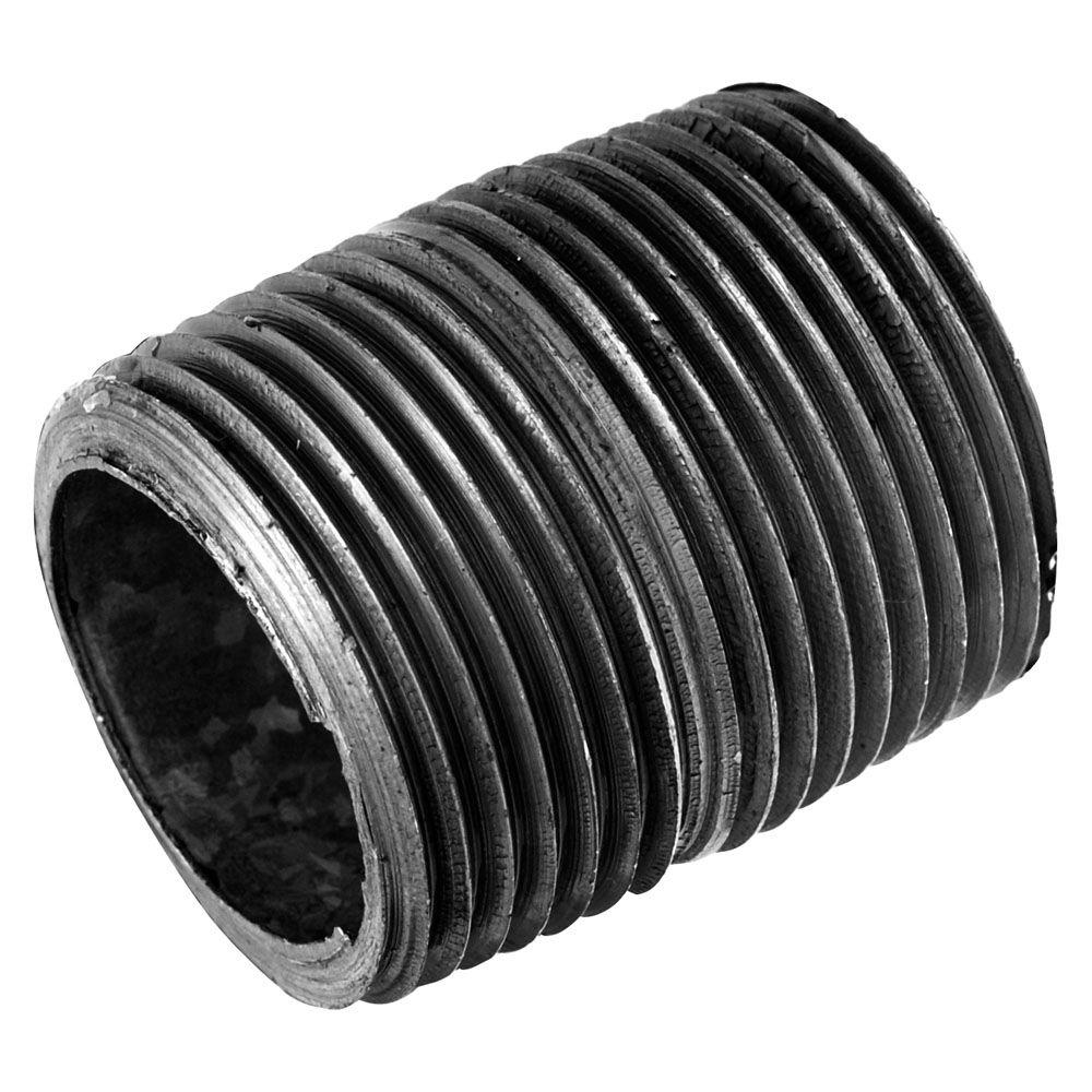 LDR Industries Pipe Decor 1/2 in. Close Black Iron Pipe Connector (4 ...
