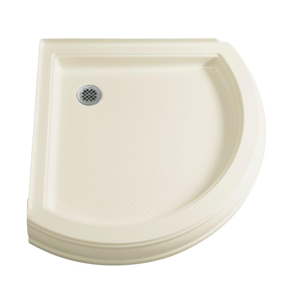 KOHLER Memoirs 35-5/8 in. x 35-5/8 in. Single Threshold Shower Receptor in Biscuit-DISCONTINUED