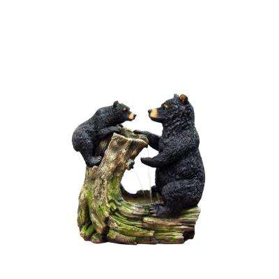26 in. Bear and Cub Fountain without Light