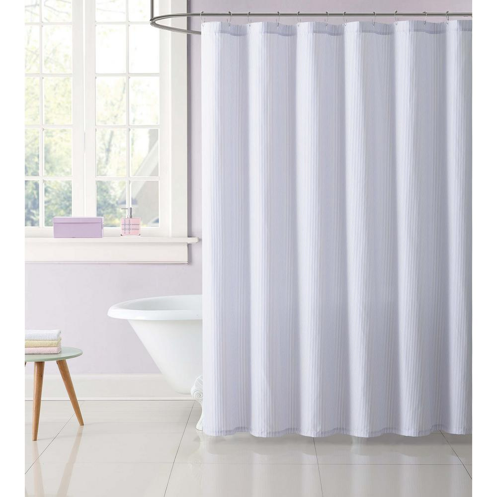 Kids 72 in. Stripe Purple Shower Curtain