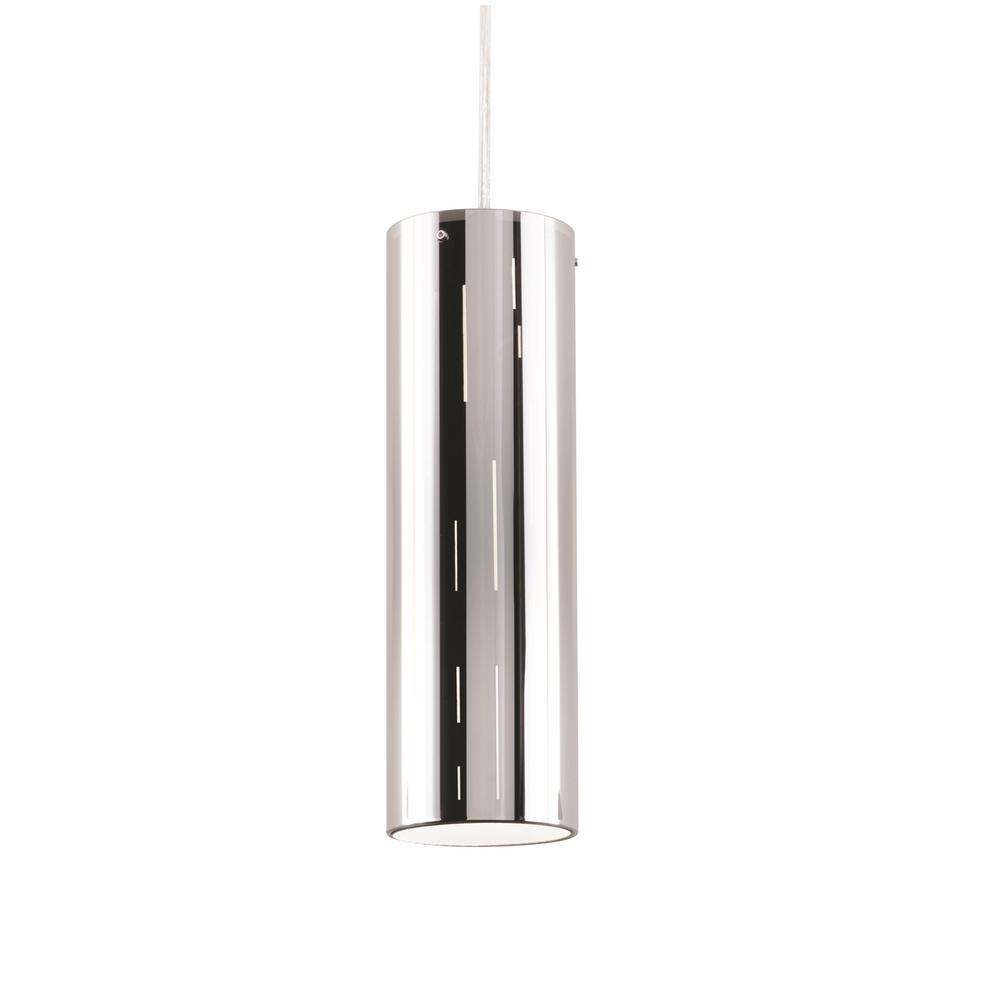 Manhattan 14-Watt Integrated LED Black/Chrome Pendant