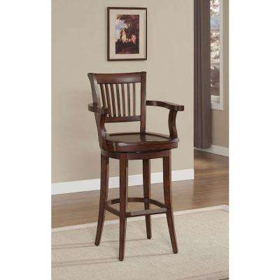 Molena 34 in. Suede Bar Stool
