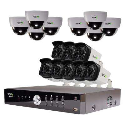 Aero 16-Channel HD 4TB Surveillance DVR with 16 Indoor/Outdoor Cameras