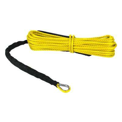 Devil's Hair in Synthetic ATV/UTV Winch Rope in Yellow