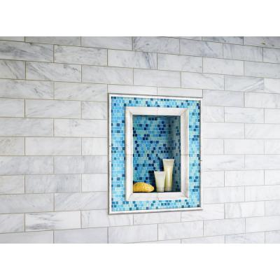 Carrara White Pencil Molding 3/4 in. x 12 in. Polished Marble Wall Tile (20 lin. ft. / case)