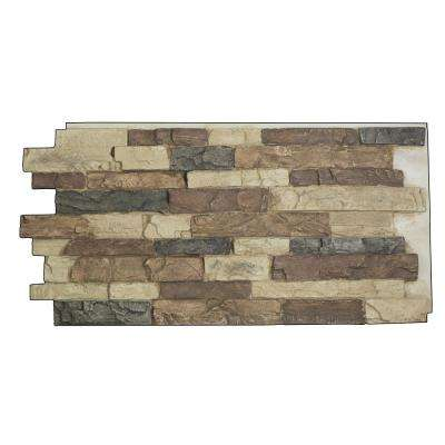 Snodonia Faux Stone Panel 1-1/4 in. x 48 in. x 24 in. Rustic Lodge Polyurethane Interlocking Panel
