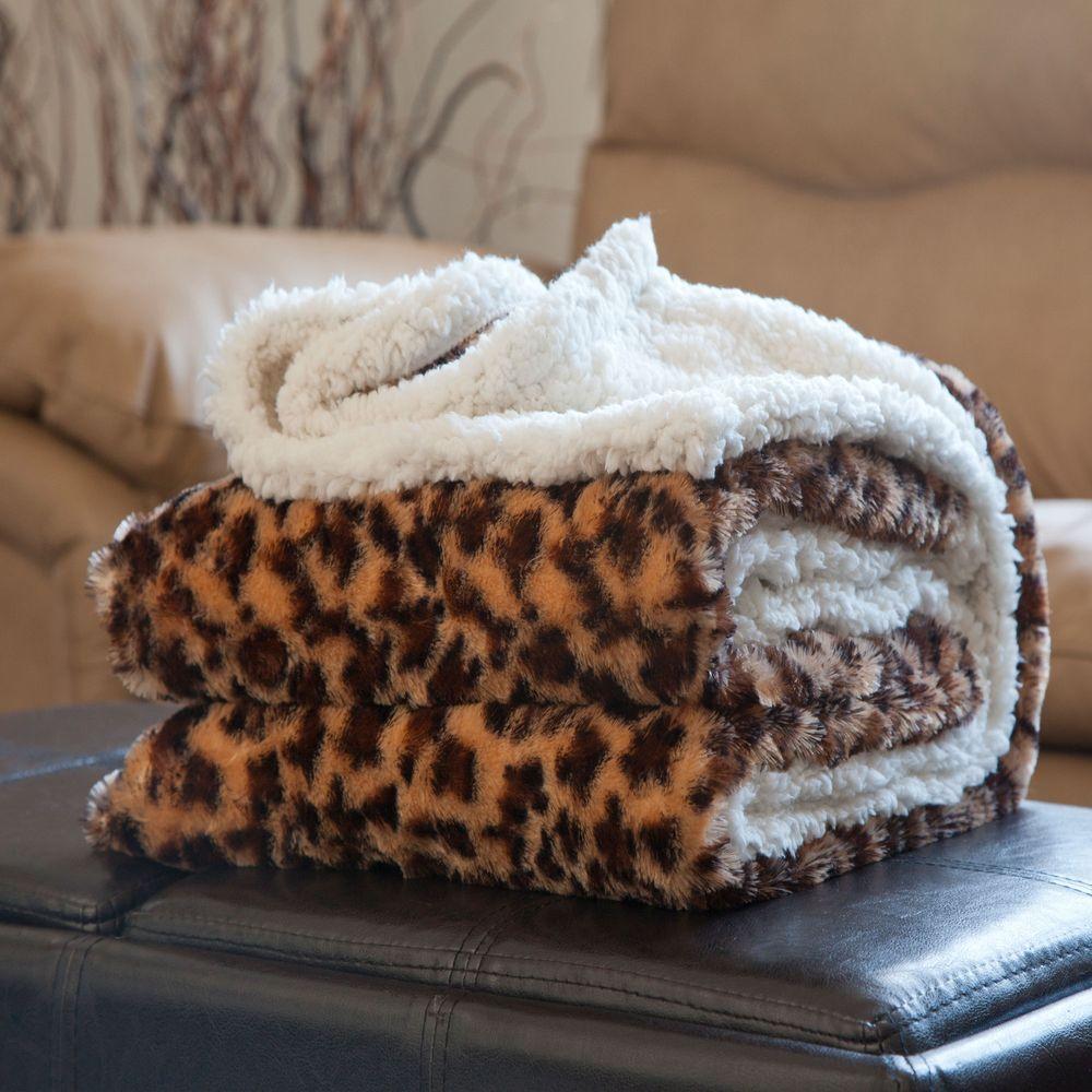 Fleece Sherpa Polyester Throw Blanket