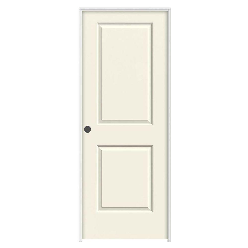 36 in. x 80 in. Cambridge Vanilla Painted Right-Hand Smooth Solid