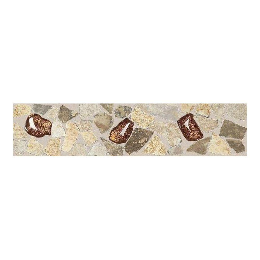 Daltile Castle De Verre Universal/Multi-Color 3 in. x 13 in. Porcelain Decorative Floor and Wall Tile-DISCONTINUED