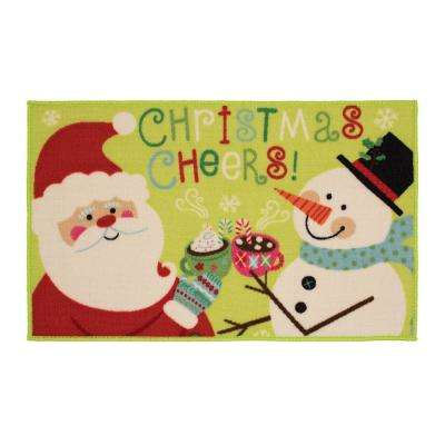 Christmas Cheers Friends 18 in. x 30 in. Printed Nylon Door Mat